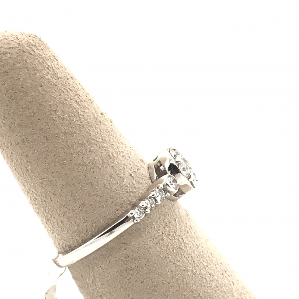 Engagement Rings - Round Cluster Diamond Engagement Ring - image #2