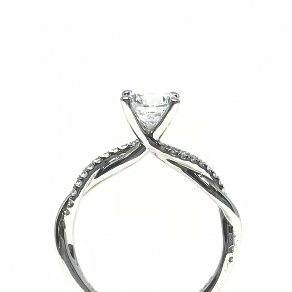 Engagement Rings - Round Twisted Semi-Mount - image 2
