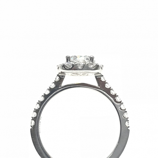 Engagement Rings - Cushion Halo Engagement Ring - image #2