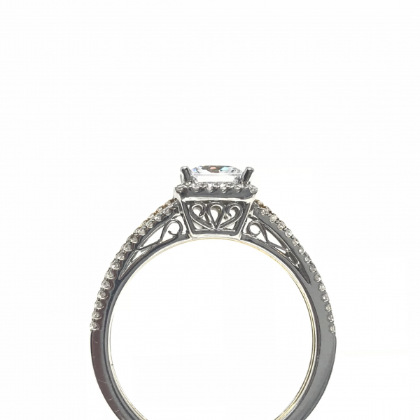 Engagement Rings - Princess Halo Engagement Ring - image #2