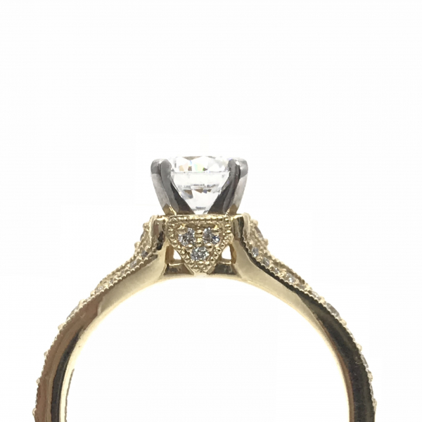 Engagement Rings - Round Split Semi-Mount Ring  - image #2
