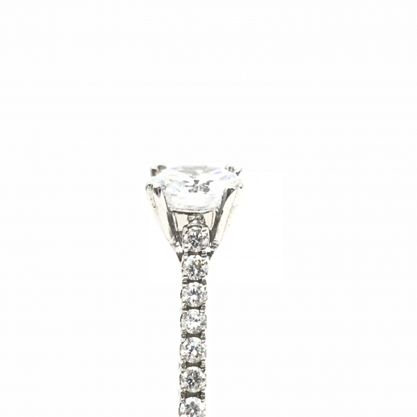 Engagement Rings - Diamond Semi-Mount Engagement Ring  - image #2