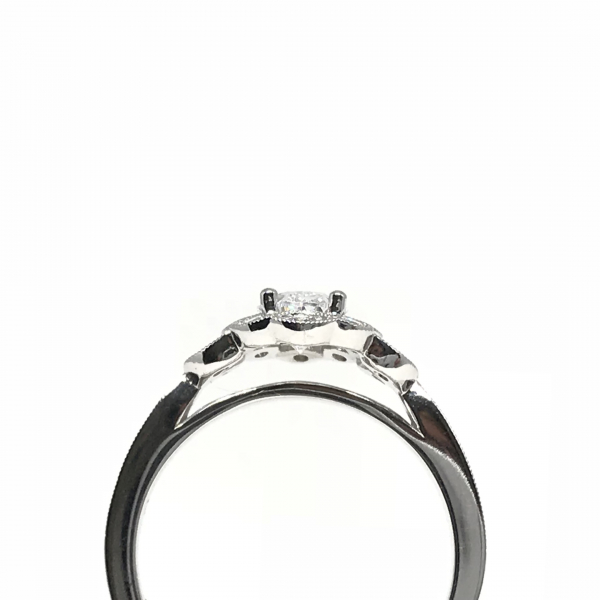 Engagement Rings - Oval Halo Engagement Ring  - image #2