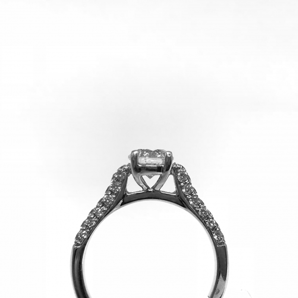 Engagement Rings - Round Diamond Ring - image #2