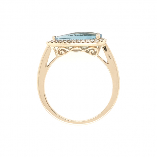 Fine Jewelry - Angled Blue Topaz Ring - image #2