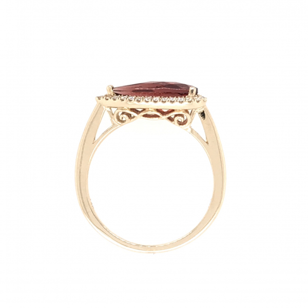 Fine Jewelry - Angled Pear Garnet Ring  - image 2