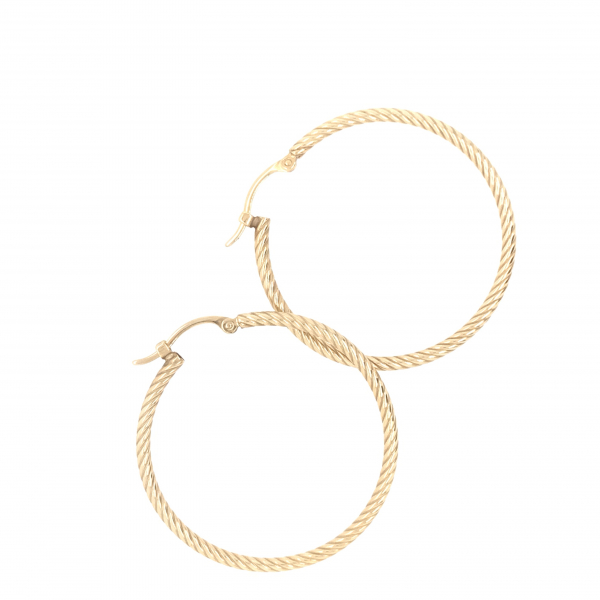 Fine Jewelry - Yellow Twisted Hoops - image #2