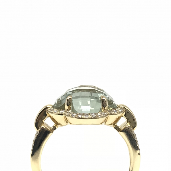 Rings - Green Amethyst Fashion Ring - image #2