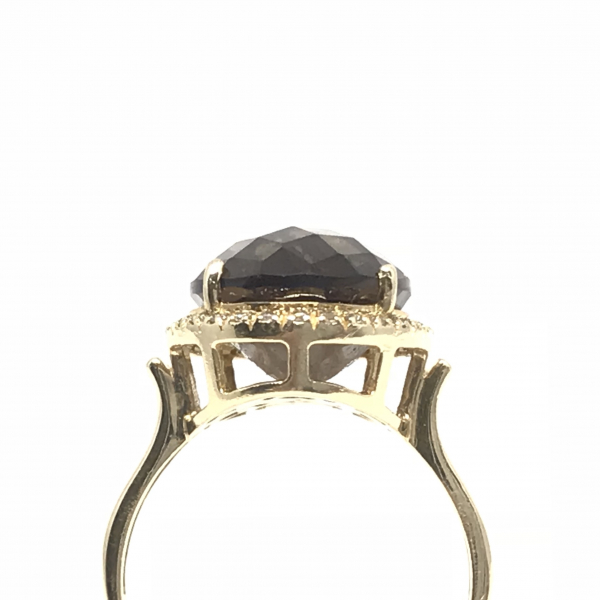 Rings - Smokey Topaz and Diamond Ring - image #2