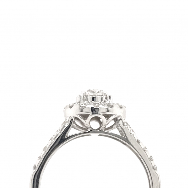 Engagement Rings - Round Engagment Ring with a Split Shank - image #2
