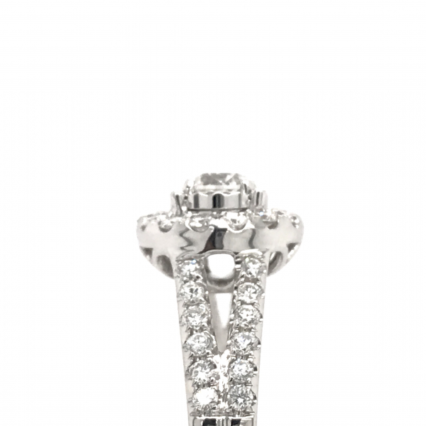 Engagement Rings - Round Engagment Ring with a Split Shank - image #3