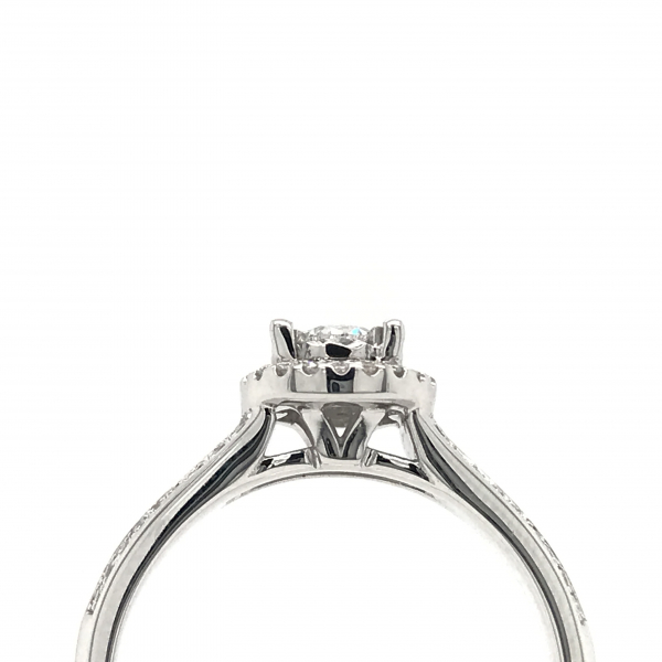 Engagement Rings - Round Double Band Halo Engagement Ring - image #2