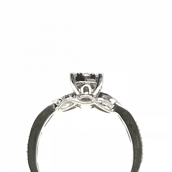 Engagement Rings - Lovebright Diamond Engagement Ring with Twisted Band - image #2