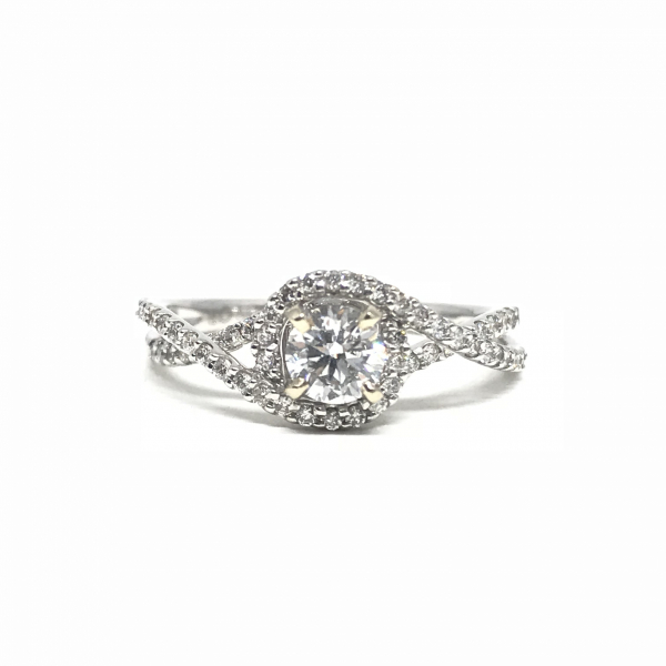 Engagement Rings - Twisted shank diamond engagement ring