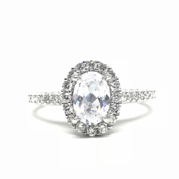 Engagement Rings - Oval Halo Semi Mount