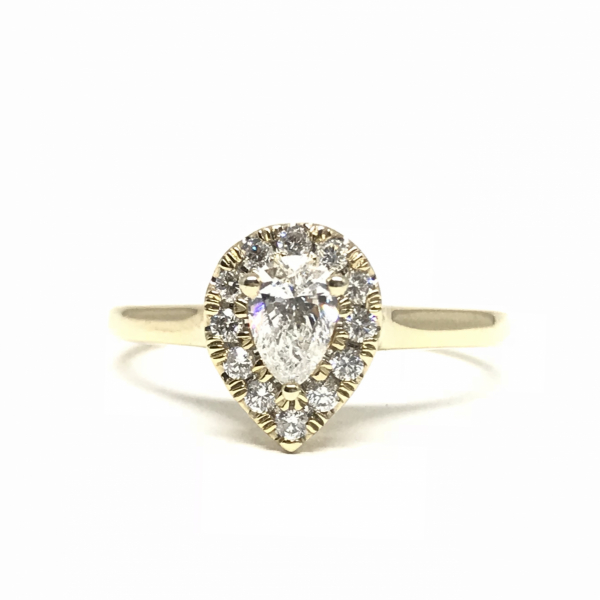 Engagement Rings - Pear Halo Engagement Ring