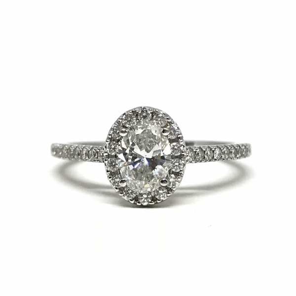 Engagement Rings - Oval Halo Engagement Ring
