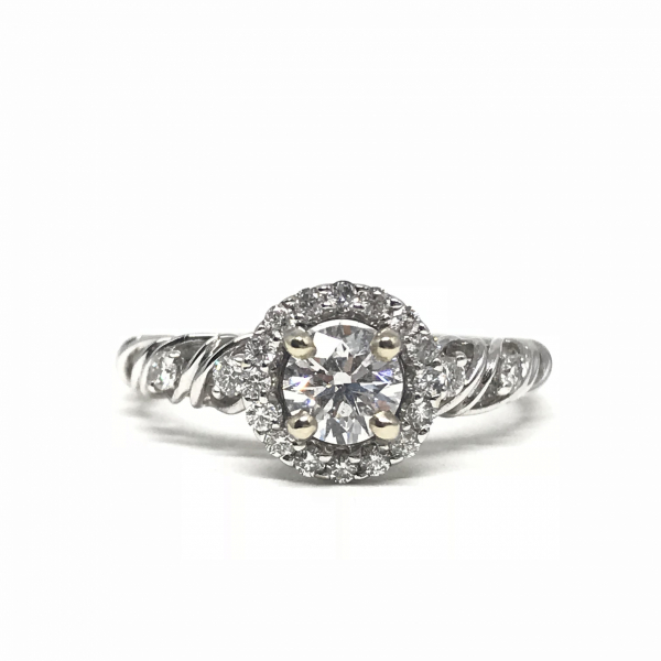 Engagement Rings - Diamond Halo Engagement Ring