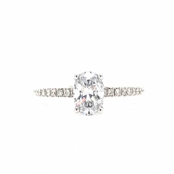 Engagement Rings - Oval Diamond Engagment Ring