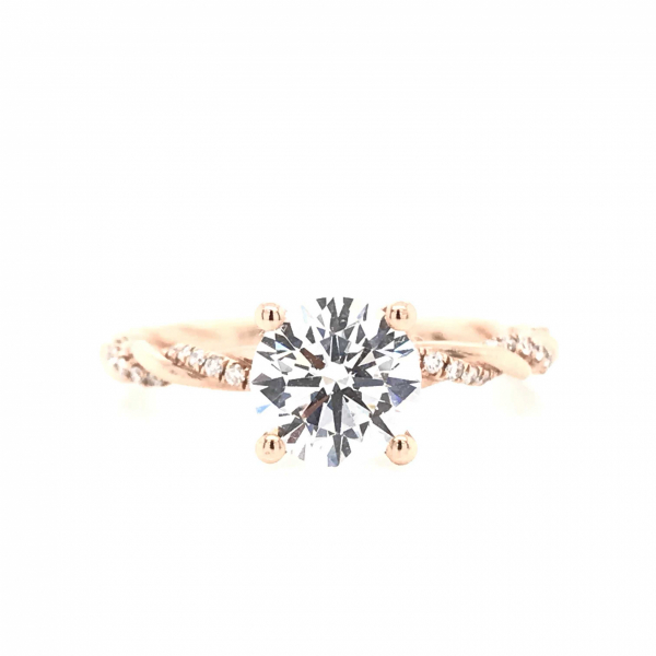 Engagement Rings - Rose Gold Spiraled Semi-Mount Engagement Ring