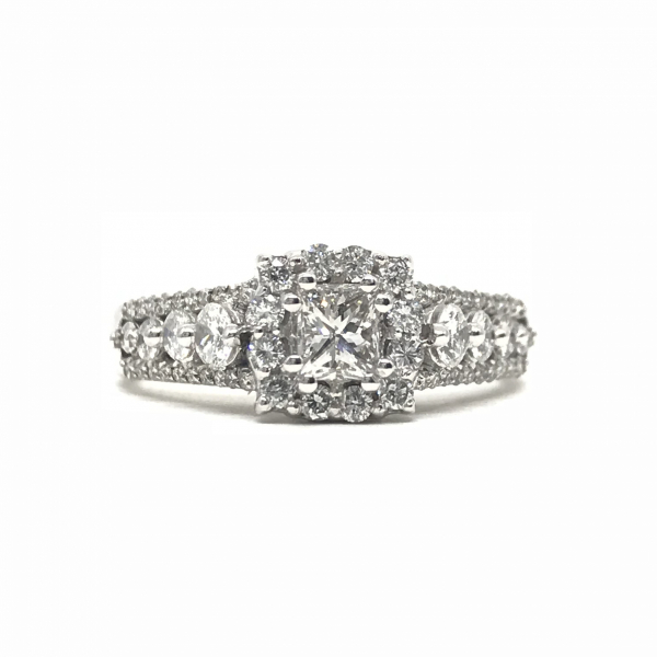 Engagement Rings - Princess Cut Halo Engagement Ring