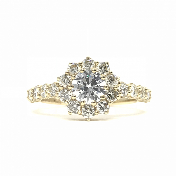 Engagement Rings - Round Halo Semi-Mount