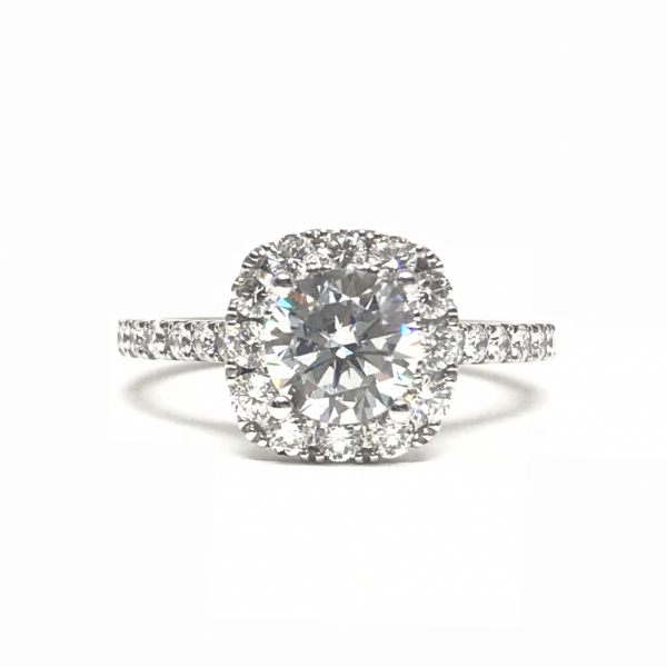 Engagement Rings - Cushion Halo Engagement Ring