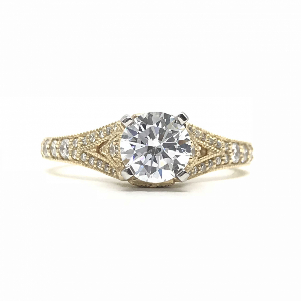 Engagement Rings - Round Split Semi-Mount Ring