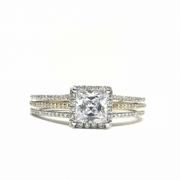 Engagement Rings - Princess Halo Engagement Ring