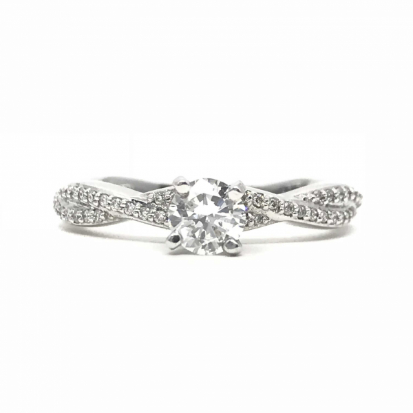 Engagement Rings - Twisted Round Engagement Ring