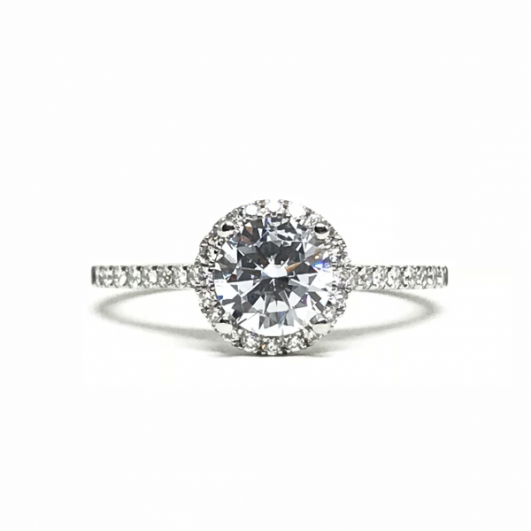 Engagement Rings - Round Halo Engagement Ring