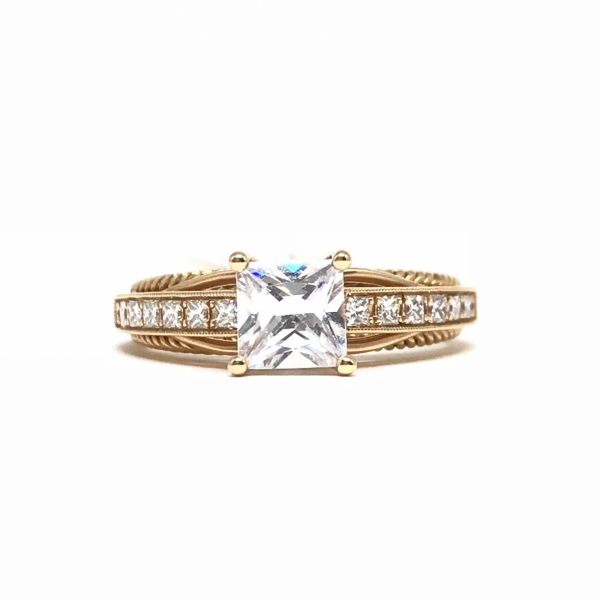 Engagement Rings - Rose gold semi-mount
