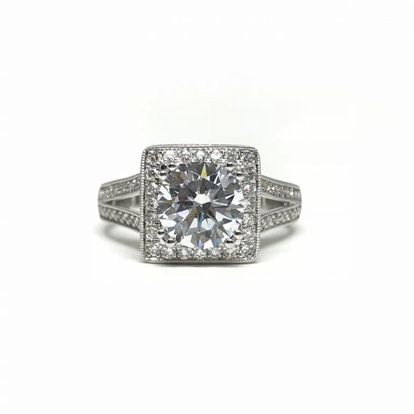 Engagement Rings - Princess Halo Semi-Mount