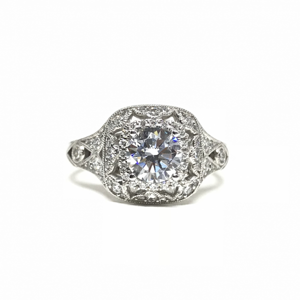 Engagement Rings - Cushion Double Halo Engagement Ring