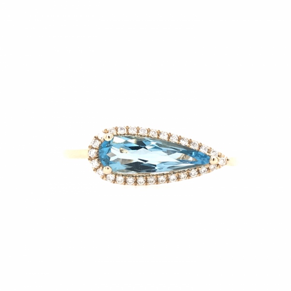 Fine Jewelry - Angled Blue Topaz Ring