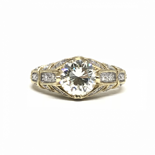 Engagement Rings - Antique Round Diamond Engagement Ring