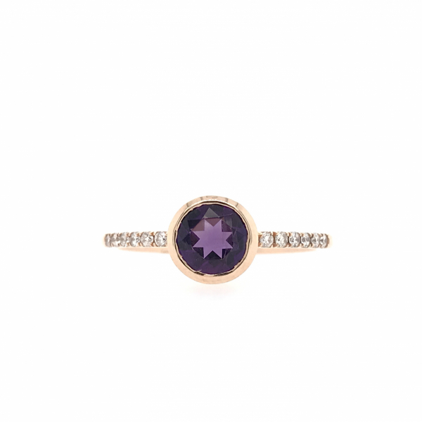 Fine Jewelry - Bezel Set Amethyst Ring
