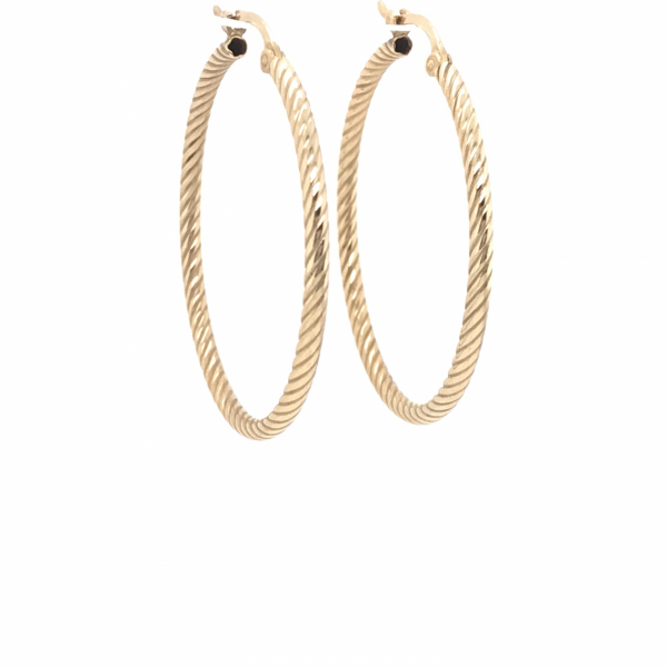 Fine Jewelry - Yellow Twisted Hoops