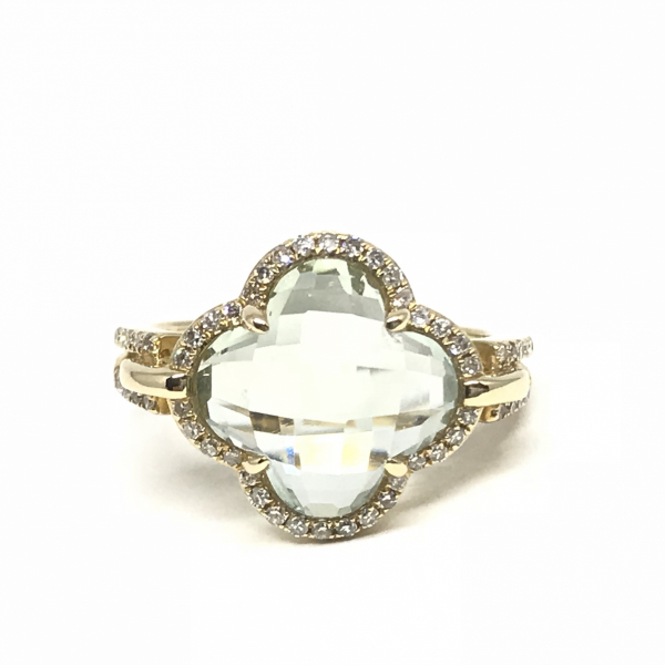 Rings - Green Amethyst Fashion Ring