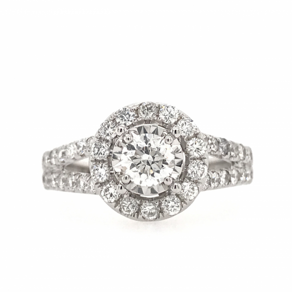 Engagement Rings - Round Engagment Ring with a Split Shank