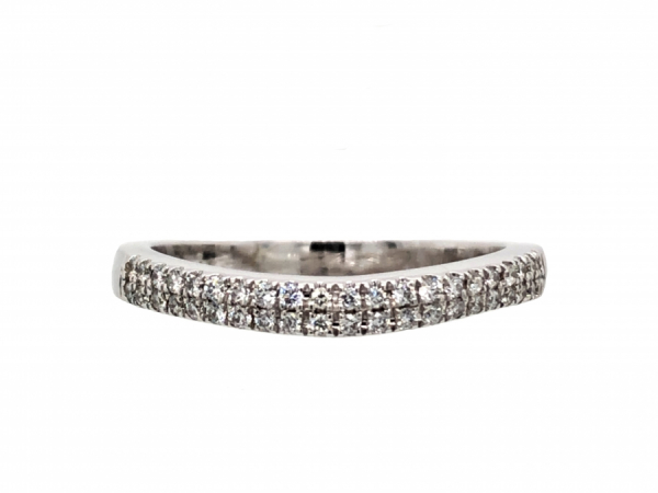 WEDDING BANDS - 14 KARAT WHITE GOLD DIAMOND BAND