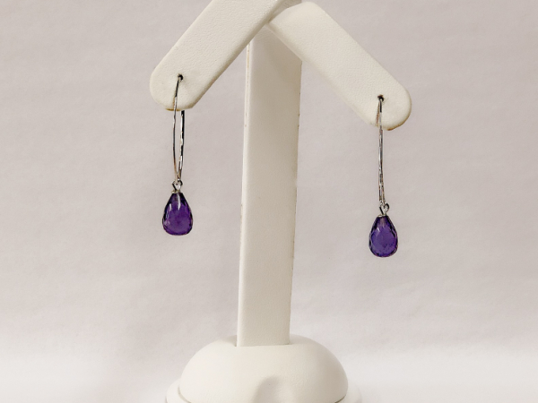 Sterling Silver Amethyst Sweep Drop Earrings - Sterling Silver Amethyst Sweep Drop earrings, in the most beautiful royal purple colour.