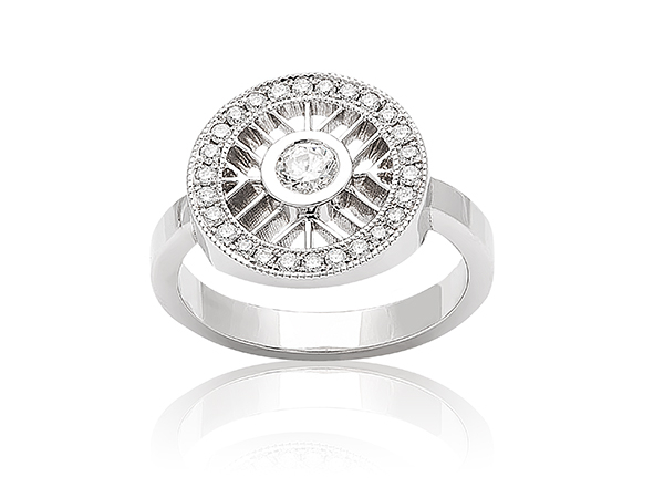 DIAMOND ENGAGEMENT RINGS - *14W  AND DIAMOND LOVE IS ALL AROUND