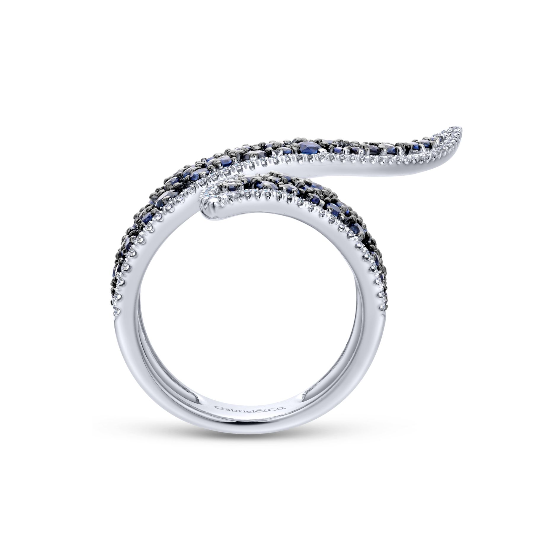 Rings - DIAMOND AND SAPPHIRE LADIES RING - image #2