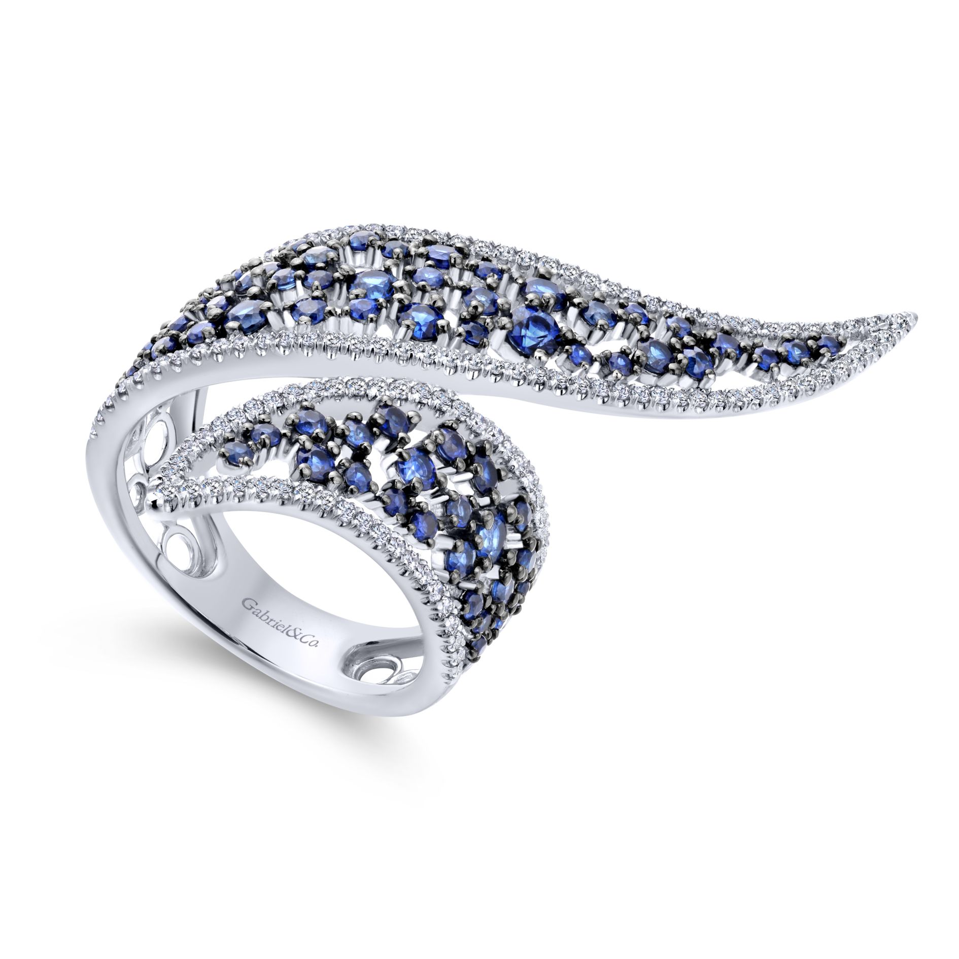 Rings - DIAMOND AND SAPPHIRE LADIES RING - image #3