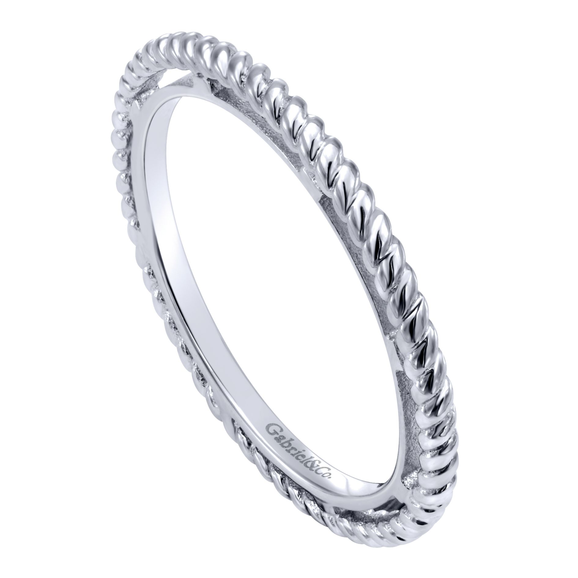 Rings - SILVER STACKABLE LADIES RING - image #3