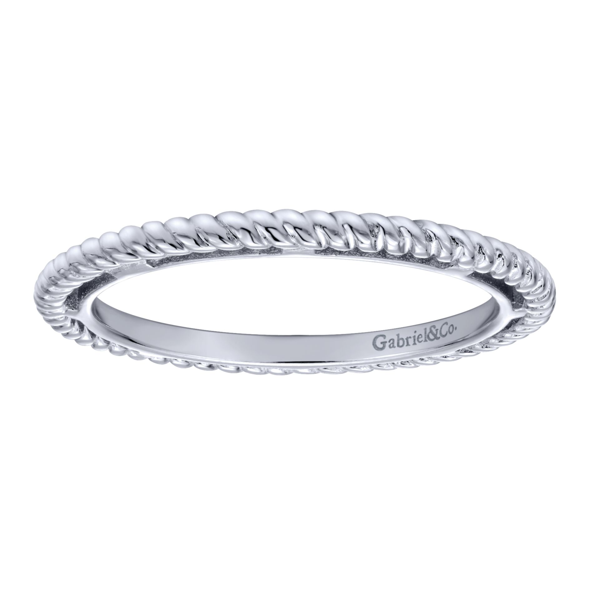 Rings - SILVER STACKABLE LADIES RING - image #4