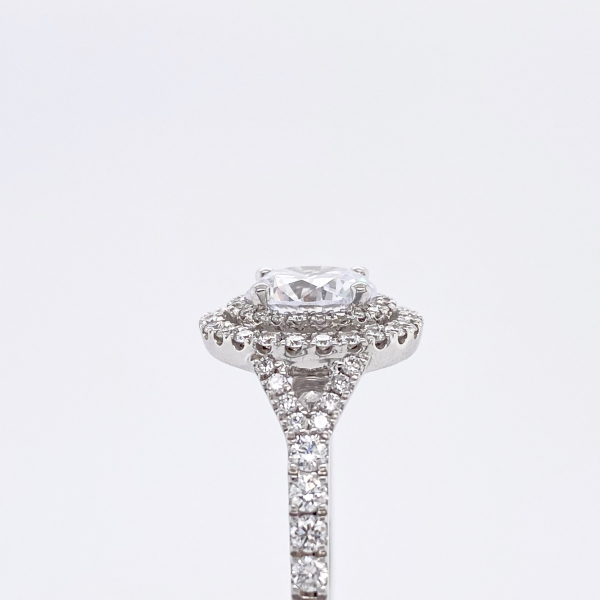 Engagement Rings - Double Halo Diamond Engagement Ring - image #3