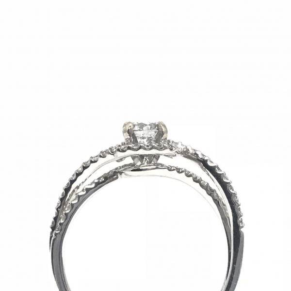 Engagement Rings - Twisted shank diamond engagement ring  - image #3