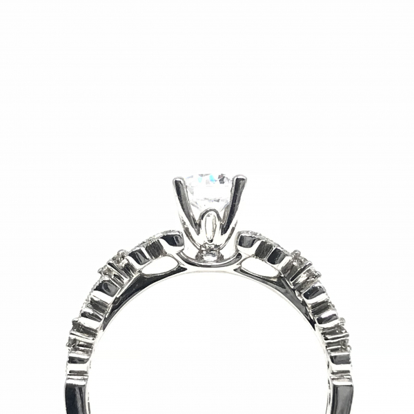 Engagement Rings - Round Semi-Mount  - image #2